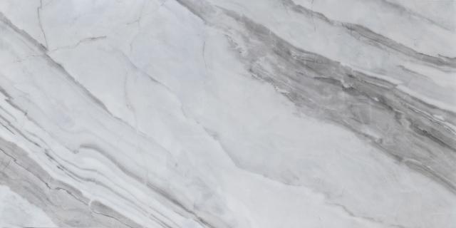 Velkoformátová dlažba lesklá – 60×120 cm Bílý Mramor   New Zhong Yuan Ceramics   KT12670T